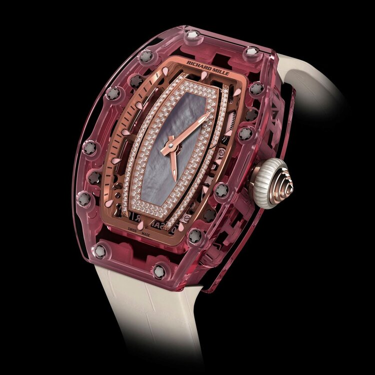 The RM 07-02, a Sapphire Lady's watch that gained infamy for its $1 million+ price tag.  Image  Via