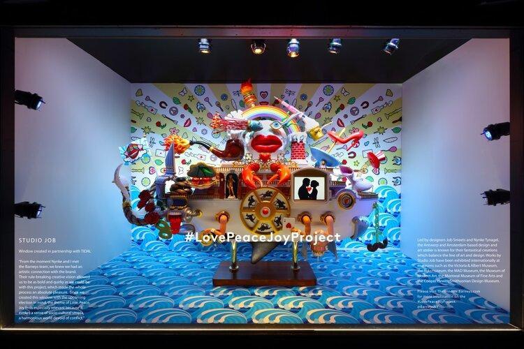 A window display at Barneys New York. Image  Via