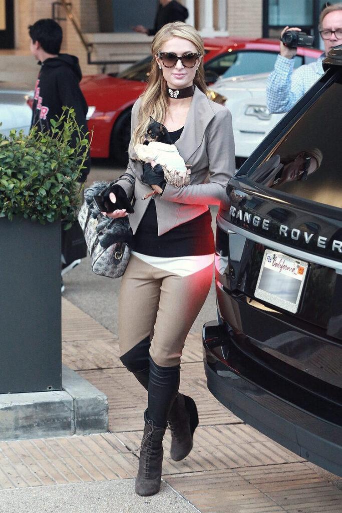 Paris Hilton arriving at Barneys Los Angeles location. Image  Via